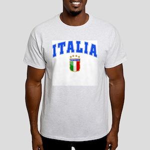 Italia 4 Star European Soccer 2012 Light T-Shirt