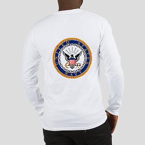 Navy Emblem - back Long Sleeve T-Shirt