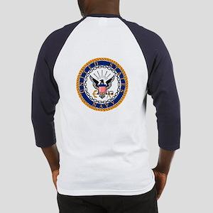 Navy Emblem - back Baseball Jersey