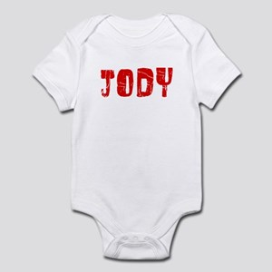 Jody Faded (Red) Infant Bodysuit