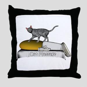 Animal Massage Throw Pillow