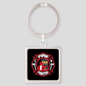 Modern Firefighter Badge Keychains