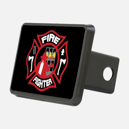 Modern Firefighter Badge Hitch Cover