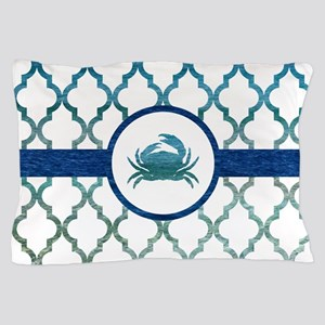 Crab: Tropical Water Moroccan Pattern Pillow Case