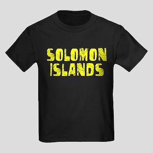 Solomon Isla.. Faded (Gold) Kids Dark T-Shirt