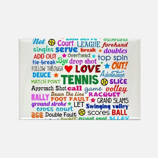Tennis Names Shirt Magnets