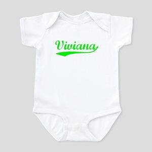 Vintage Viviana (Green) Infant Bodysuit