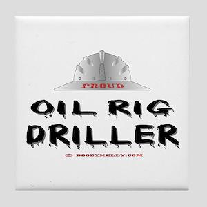 Oil Rig Driller Tile Coaster
