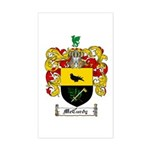 McCurdy Family Crest Rectangle Sticker
