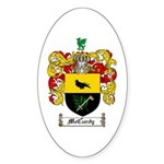 McCurdy Family Crest Oval Sticker