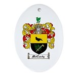 McCurdy Family Crest Oval Ornament