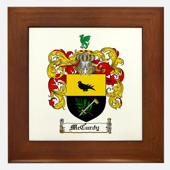 McCurdy Family Crest Framed Tile