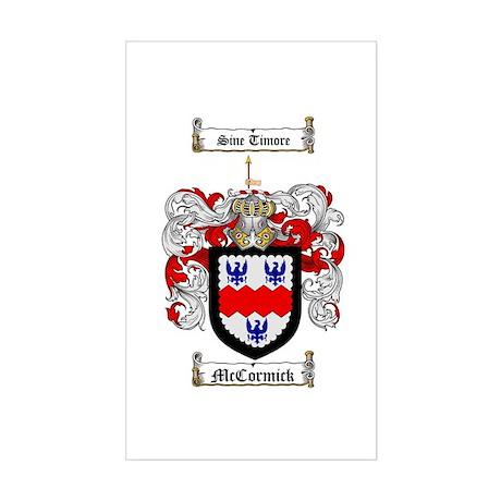 McCormick Family Crest Rectangle Sticker