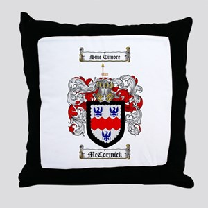 McCormick Family Crest Throw Pillow