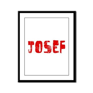 Josef Faded (Red) Framed Panel Print