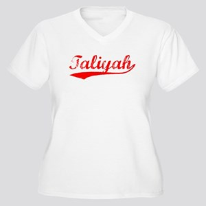 Vintage Taliyah (Red) Women's Plus Size V-Neck T-S