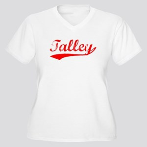 Vintage Talley (Red) Women's Plus Size V-Neck T-Sh