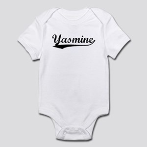 Vintage Yasmine (Black) Infant Bodysuit