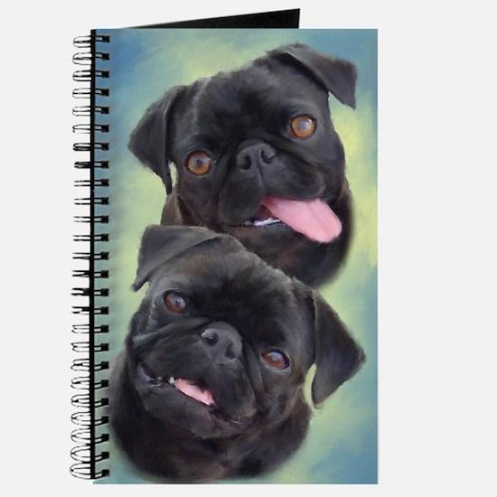 Pugaholics Journal - Black Pug Pair