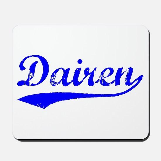 Vintage Dairen (Blue) Mousepad