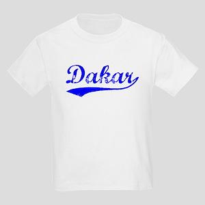 Vintage Dakar (Blue) Kids Light T-Shirt