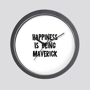 Happiness is being Maverick Wall Clock