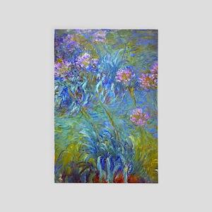 Agapanthus Monet Fine Art 4' X 6' Rug
