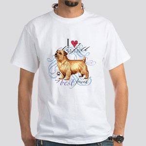 Norfolk Terrier White T-Shirt