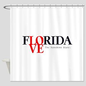Shower Curtains Florida I Love The Sunshine State Miami