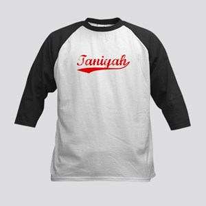 Vintage Taniyah (Red) Kids Baseball Jersey