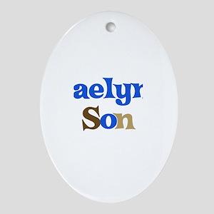Kaelyn's Son Oval Ornament