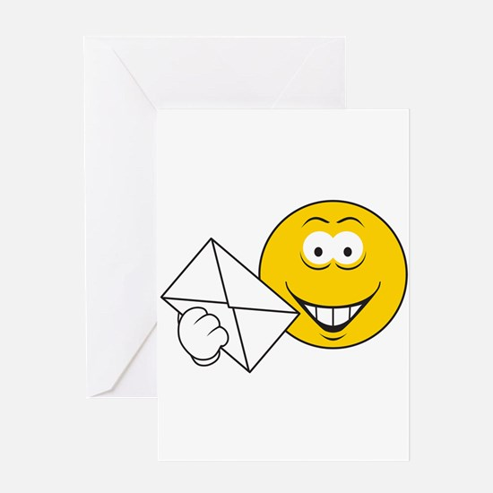 Postal Smiley Face Greeting Card