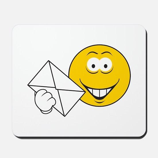 Postal Smiley Face Mousepad