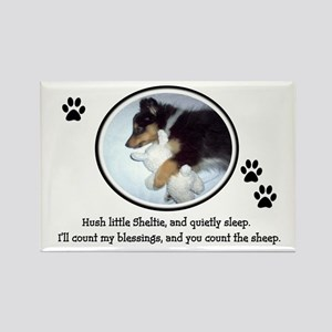 Sweet Sleeping Puppy Rectangle Magnet
