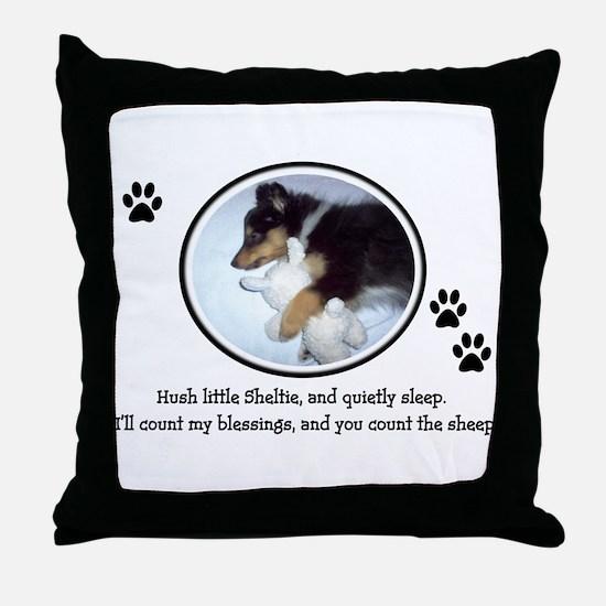 Sweet Sleeping Puppy Throw Pillow
