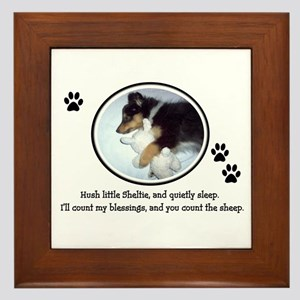 Sweet Sleeping Puppy Framed Tile