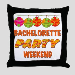 Tropical Bachelorette Weekend Throw Pillow
