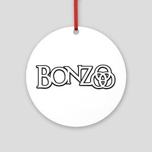 Bonzo - John Bonham Drummer design Round Ornament