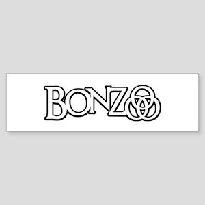 Bonzo - John Bonham Drummer design Bumper Sticker