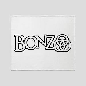 Bonzo - John Bonham Drummer design Throw Blanket