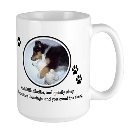Sweet Sleeping Puppy Large Mug