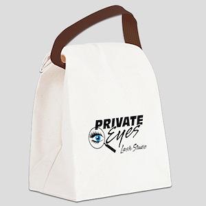 Private Eyes Lash Studio Logo White Canvas Lunch B