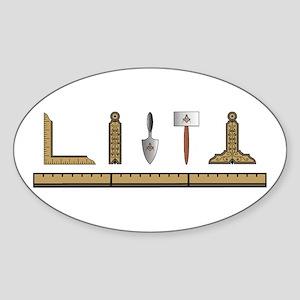 Masonic Working Tools No. 4 Oval Sticker