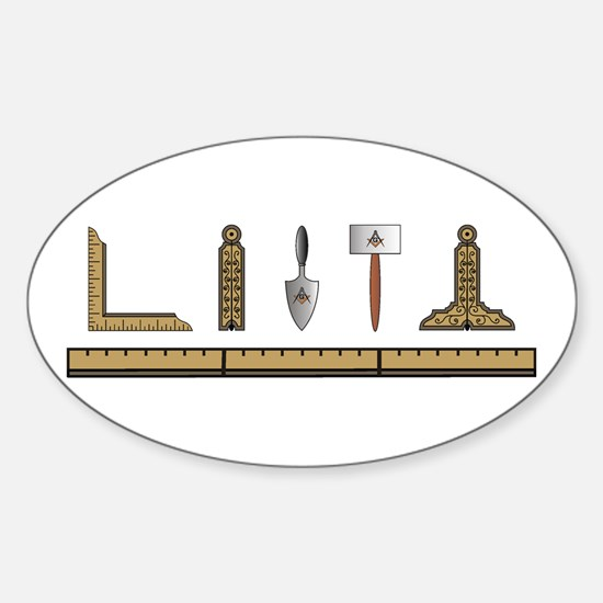 Masonic Working Tools No. 4 Oval Decal