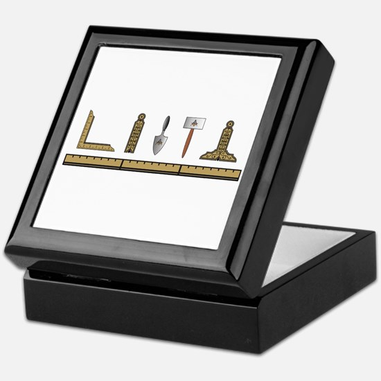 Masonic Working Tools No. 4 Keepsake Box