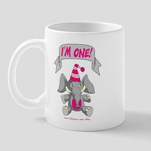 I'm One (pink elephant) Mug