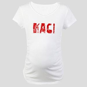 Kaci Faded (Red) Maternity T-Shirt