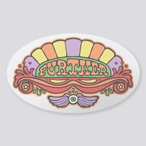 Further Oval Sticker