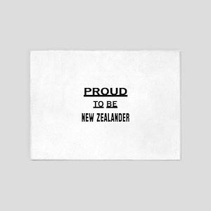 Proud To Be New Zealander 5'x7'Area Rug