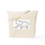 Elephant Illustration Tote Bag